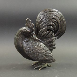 Rooster shaped censer Qing Dynasty front