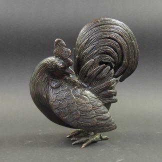 Qing bronze Rooster censer | Bovens Amsterdam