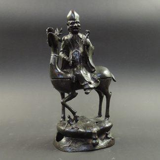 Ming bronze Shou Lao riding a deer censer | Bovens Amsterdam