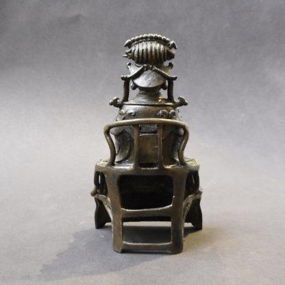 Qing bronze Daoist Deity back | Bovens Amsterdam