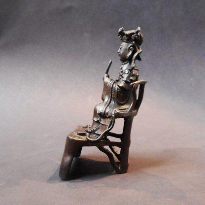 Qing bronze Daoist Deity side | Bovens Amsterdam