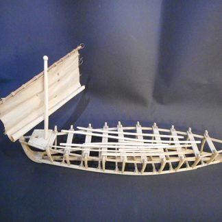 Eskimo umiak bone model
